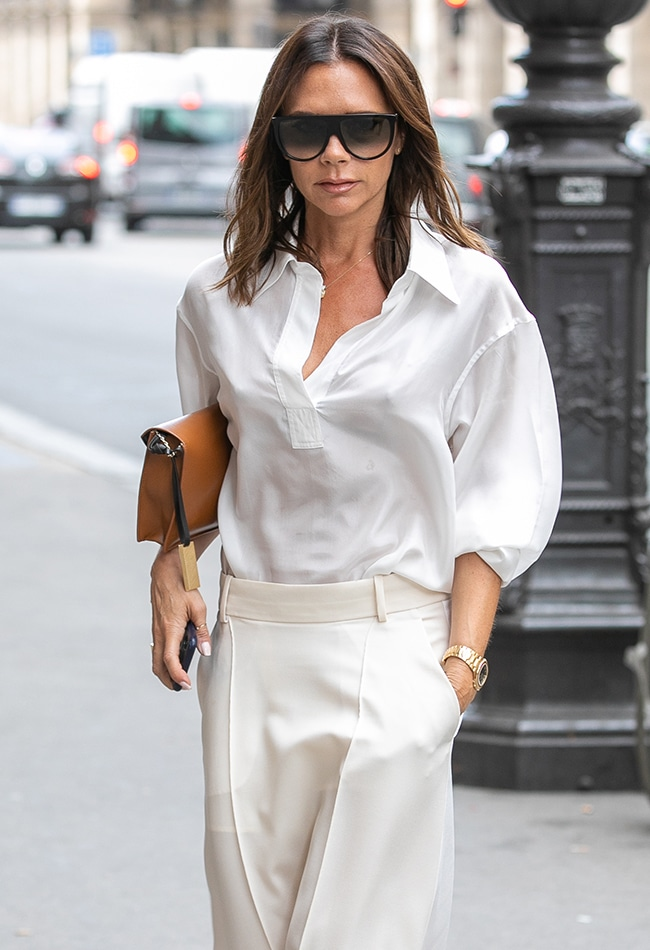 PARIS, FRANCE - JULY 05:  Victoria Beckham is seen on July 5, 2018 in Paris, France.  (Photo by Marc Piasecki/GC Images)